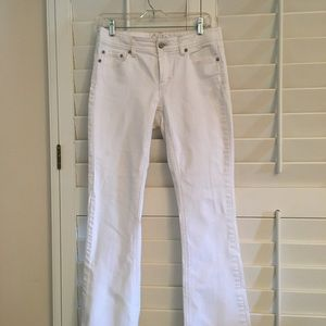 White jeans from Cache! Flare leg size 6